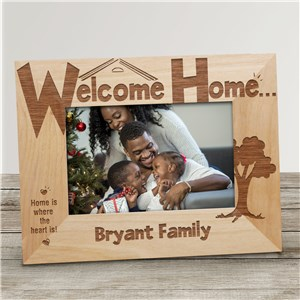 Welcome Home Personalized Wood Picture Frame | Personalized Wood Picture Frames