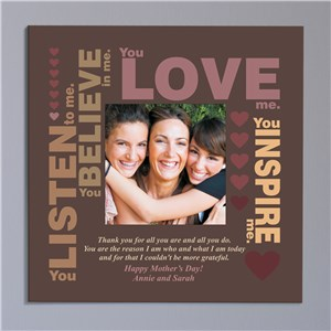 Personalized Mother's Inspiration Photo Canvas | Personalized Photo Canvas