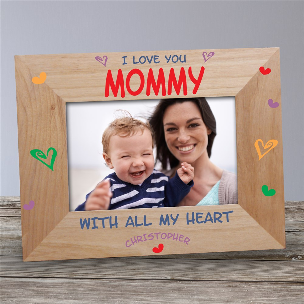 Personalized We Love You Wooden Picture Frame