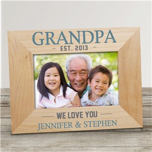 Personalized We Love You Wood Frame with Established Year