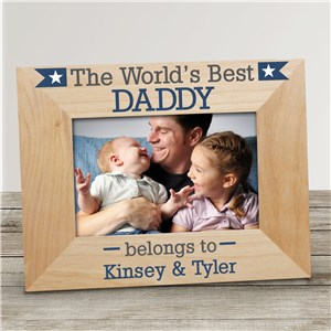 Personalized World's Best Dad Frame