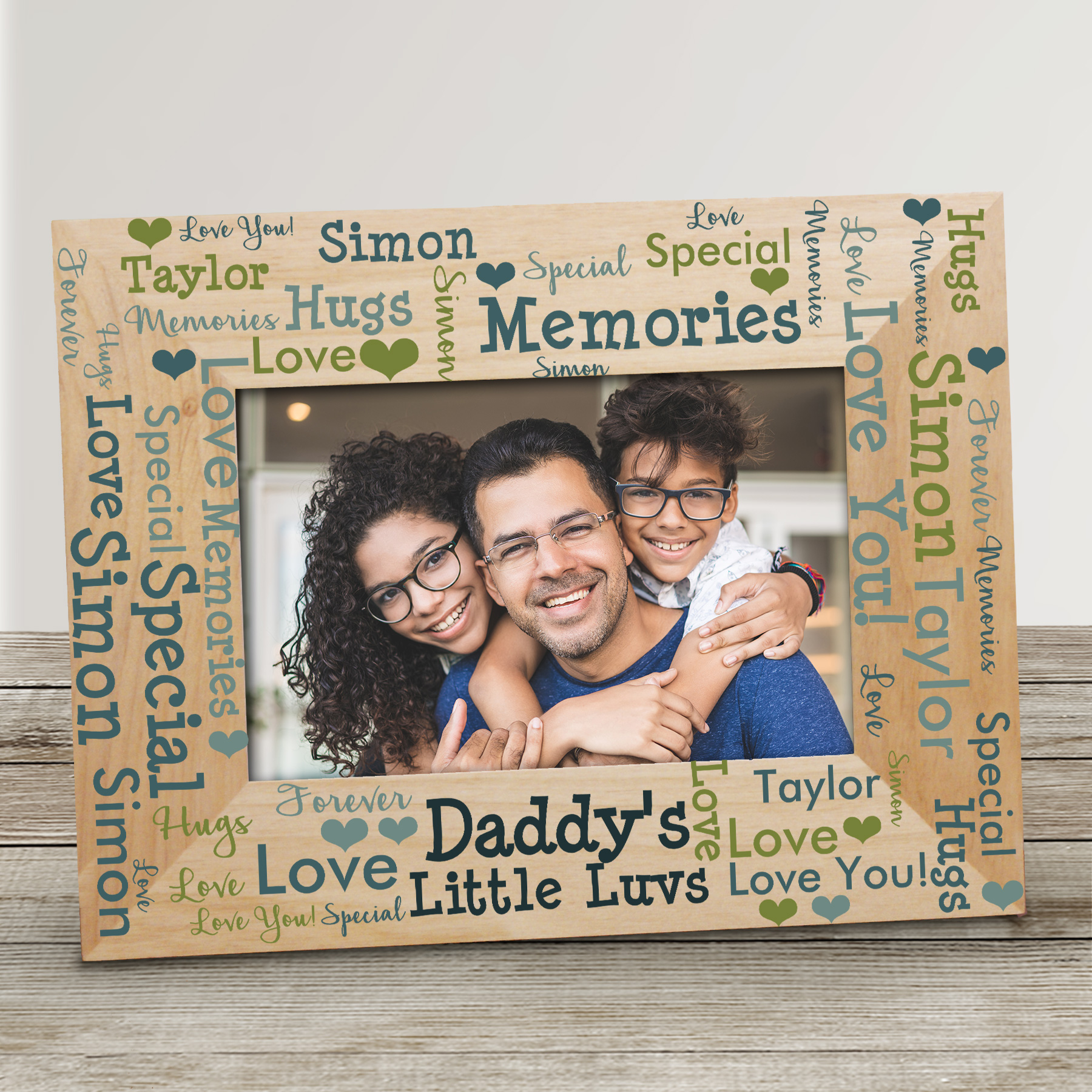 Personalized Favorite Littles Word Art Wood Frame