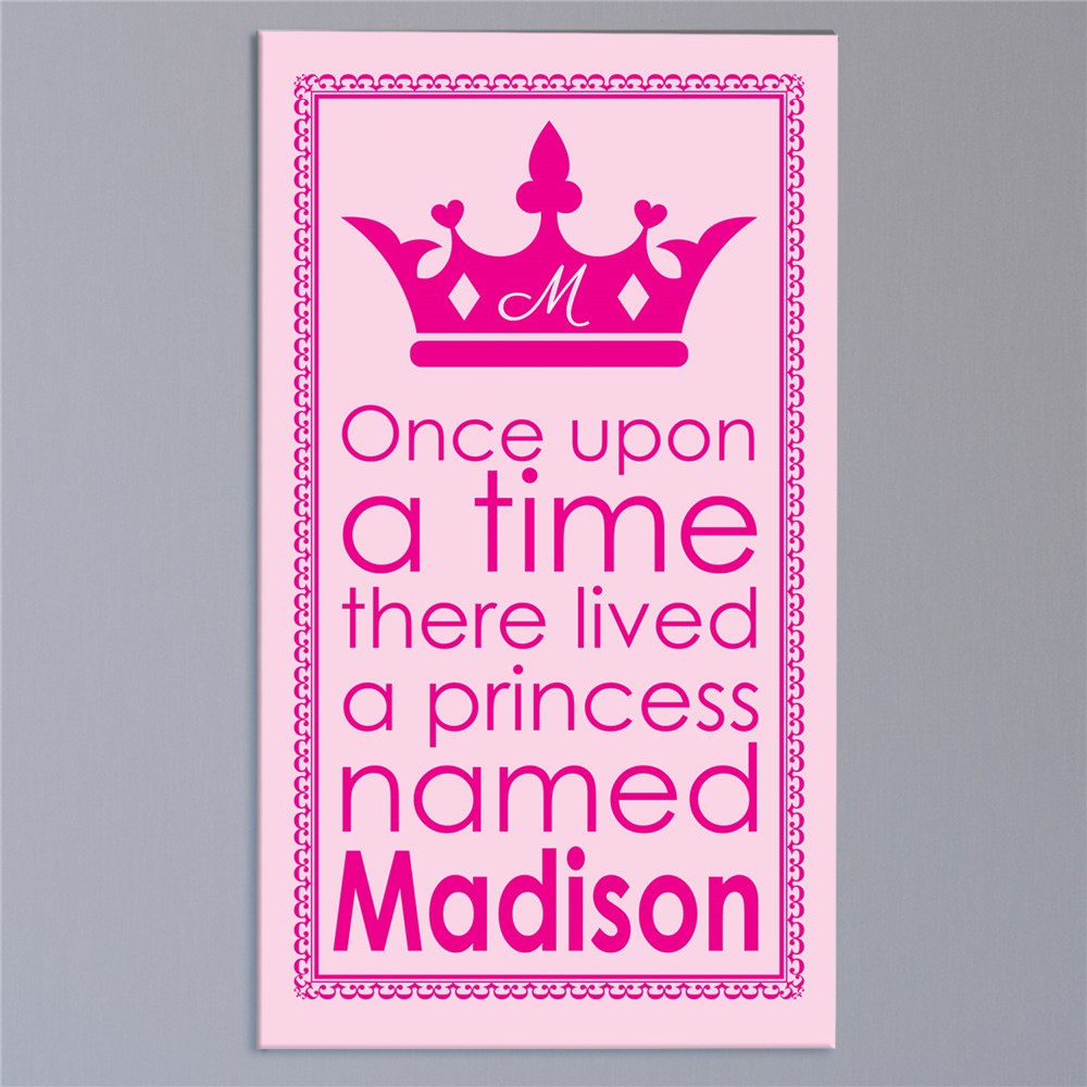 Personalized Princess Wall Canvas | Personalized Art For Kids Room