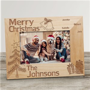 Family Christmas Personalized Wood Picture Frame | Personalized Wood Picture Frames