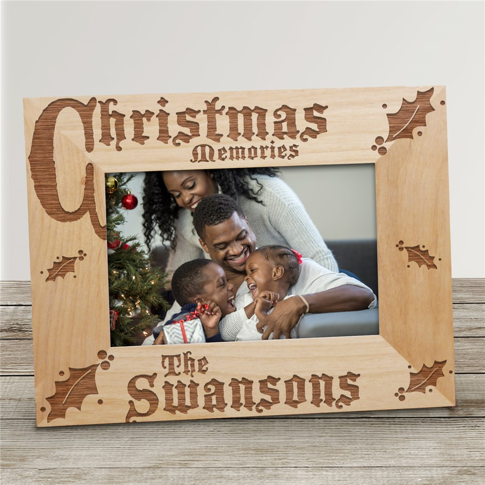 Christmas Memories Personalized Wood Picture Frame | Personalized Wood Picture Frames