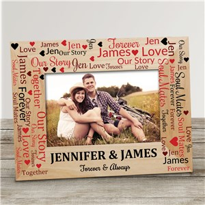 Valentine's Word Art Wood Frame