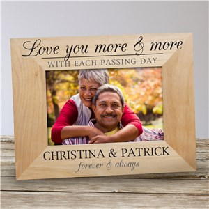 Personalized Love You More & More Wood Frame