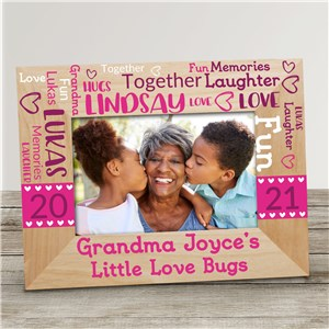Grandma's Little Loves Word Art Wood Frame
