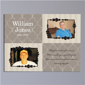 Personalized Memorial Photo Wall Canvas | Memorial Gifts