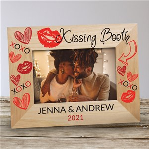 Personalized Kissing Booth Wood Frame