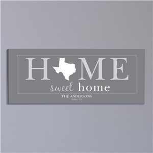 Personalized Home Sweet Home Wall Canvas 9174719
