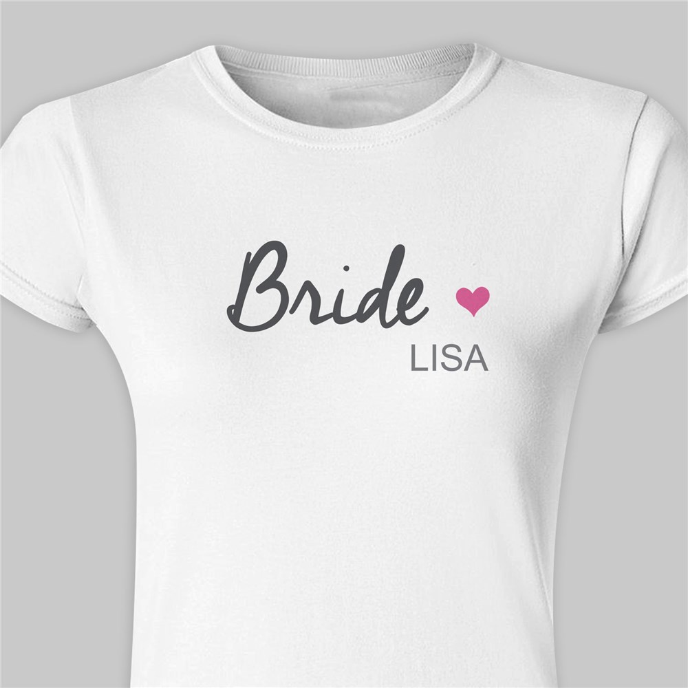 Personalized Bridal Party Ladies Fitted T-Shirt |Bridesmaid Shirts