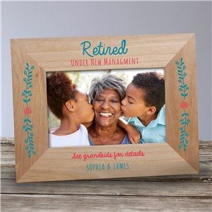 Personalized Retired Under New Management Frame 9177581