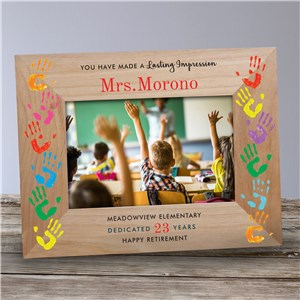 Personalized Lasting Impression Teacher Wood Frame 9177601