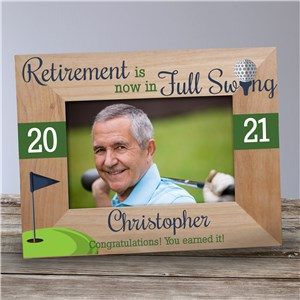 Personalized Retirement in Full Swing Wood Frame 9177781