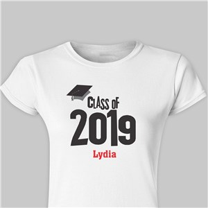 Personalized Graduation Cap Class Of Fitted T-Shirt | 2019 Graduation Shirts