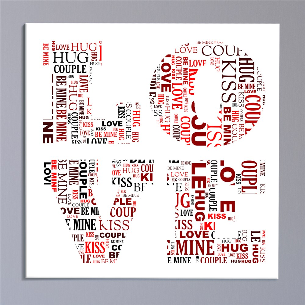 Couples Love Canvas | Personalized Valentines Canvas Prints