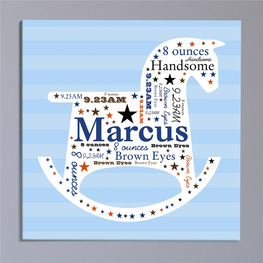 Personalized Infinity Symbol Wall Canvas | Personalized Baby Gifts For Boys
