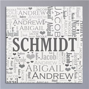 Family Word Art Canvas | Personalized Housewarming Gifts