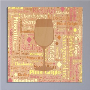 White Wine Word-Art Canvas | Personalized Word Art