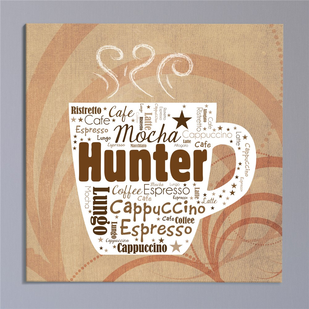 Coffee Wall Canvas | Personalized Word Art