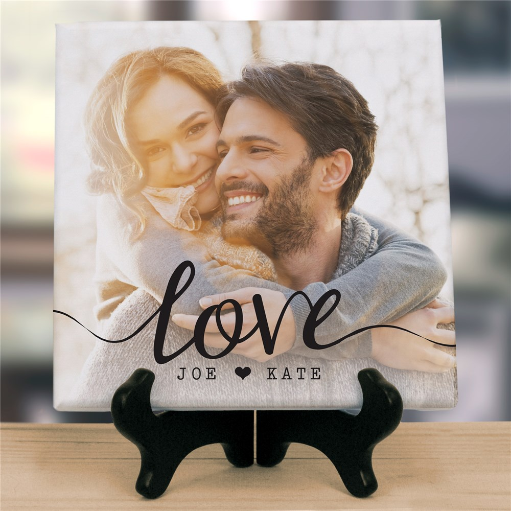 Personalized Love Photo Table Top Canvas | Personalized Valentine's Gifts For Him