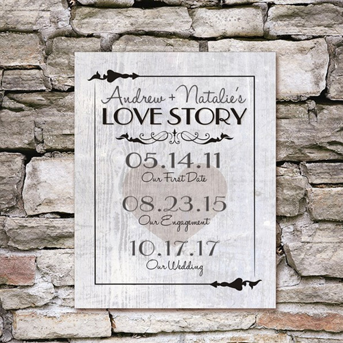 Our Love Story Wall Canvas | Personalized Canvas