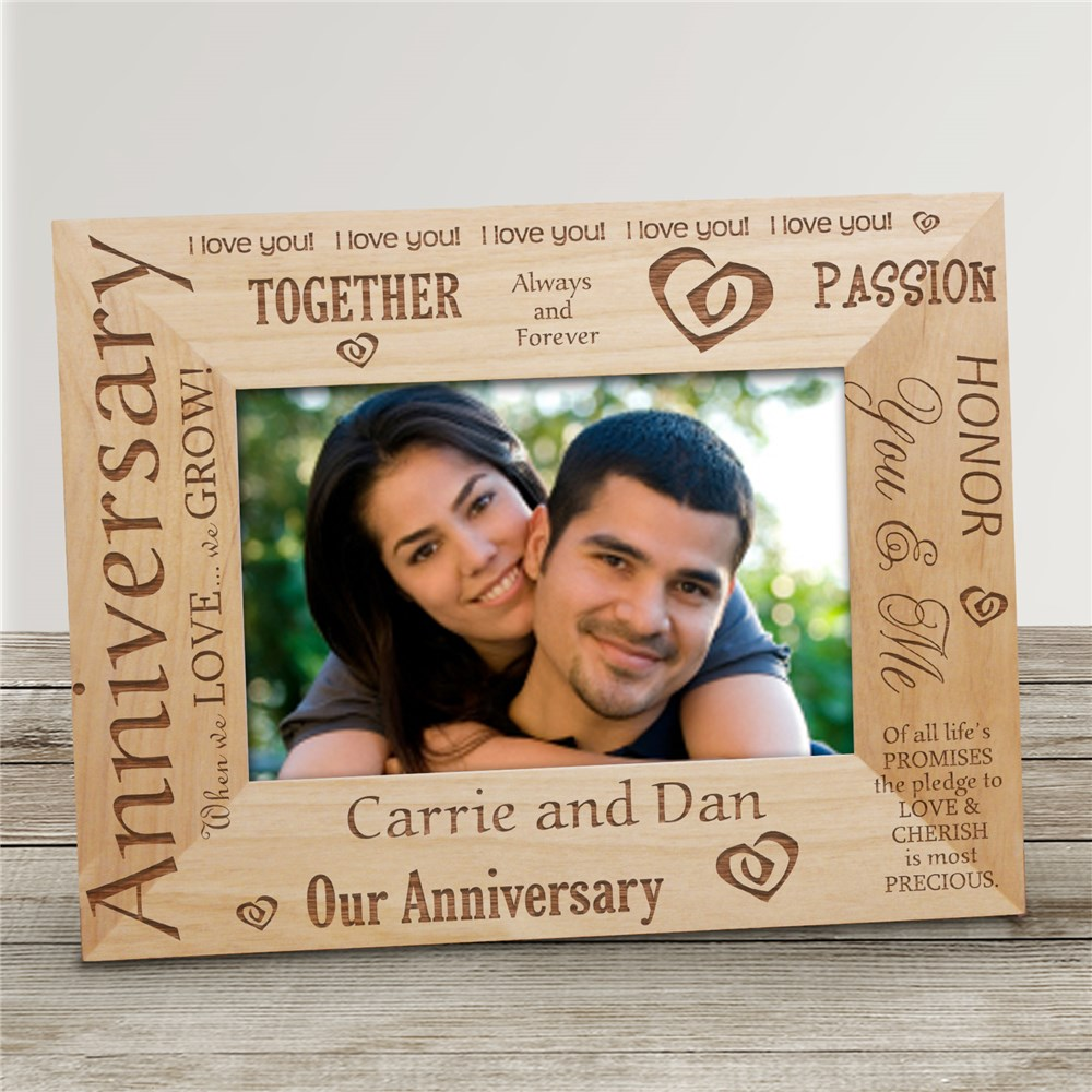 Our Anniversary Wood Picture Frame | Personalized Wood Picture Frames