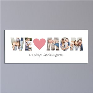 We Love You Photo Canvas | Personalized Canvas Art