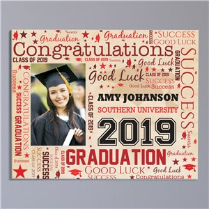 Graduation Photo Word-Art Canvas | Personalized Word Art