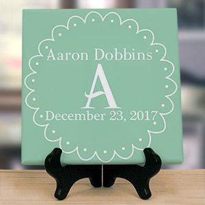Personalized Baby Initial Wall Canvas 9195844