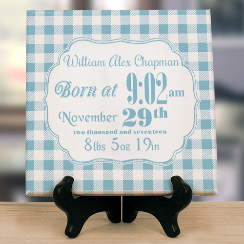 Birth Announcement Wall Canvas | Personalized Gifts For New Baby