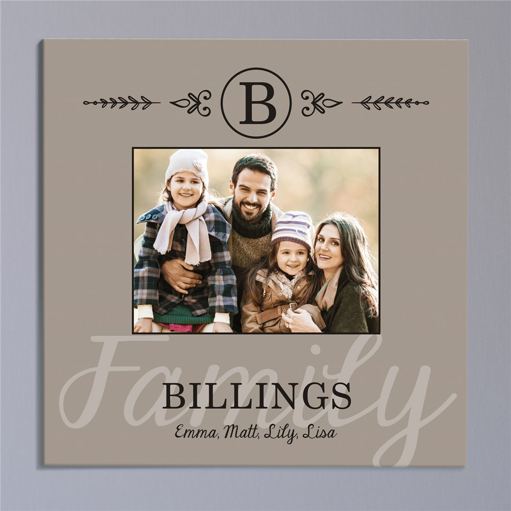 Family Photo Personalized Wall Canvas | Gifts for Housewarming