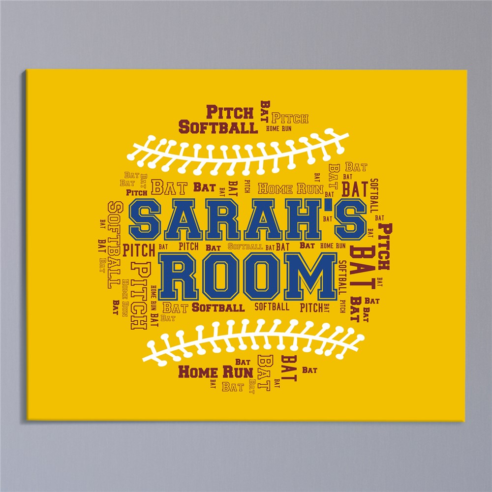 Baseball Word-Art Canvas | Fathers Day Gifts