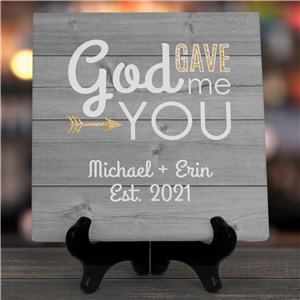God Gave Me You Personalized Canvas | Personalized Valentine's Day Gifts