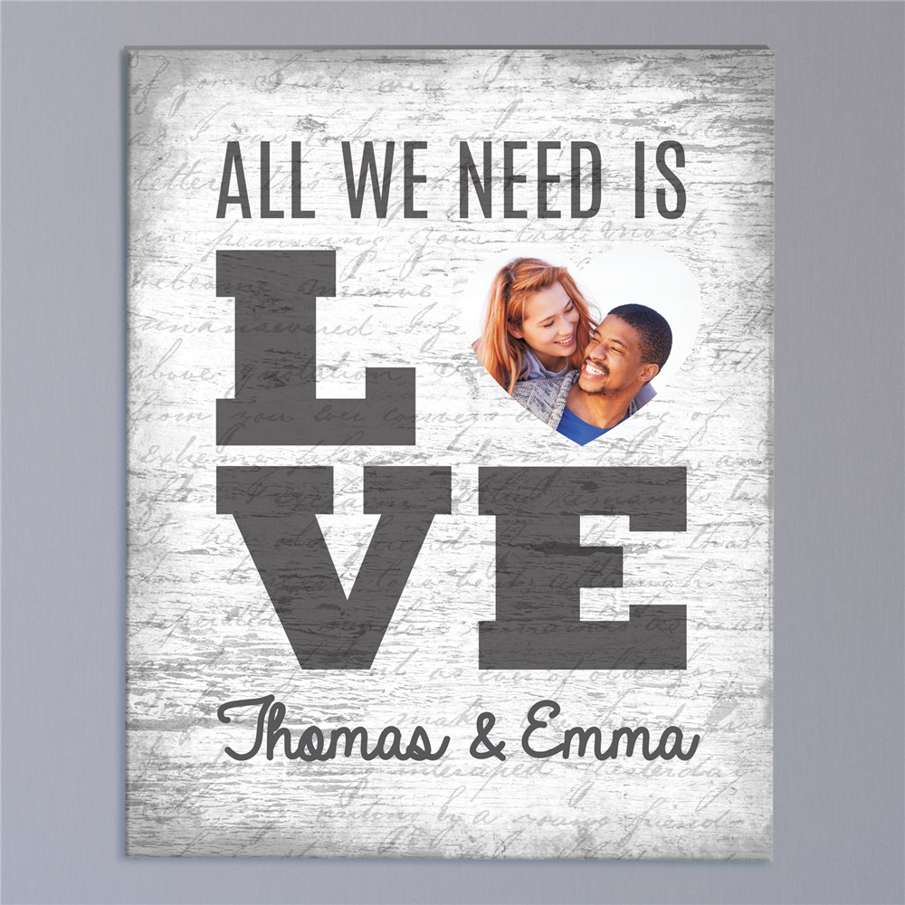 All We Need Is Love Photo Canvas | Romantic Home