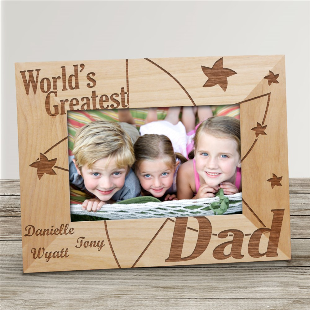 World's Greatest Stars Wood Picture Frame | Personalized Wood Picture Frames