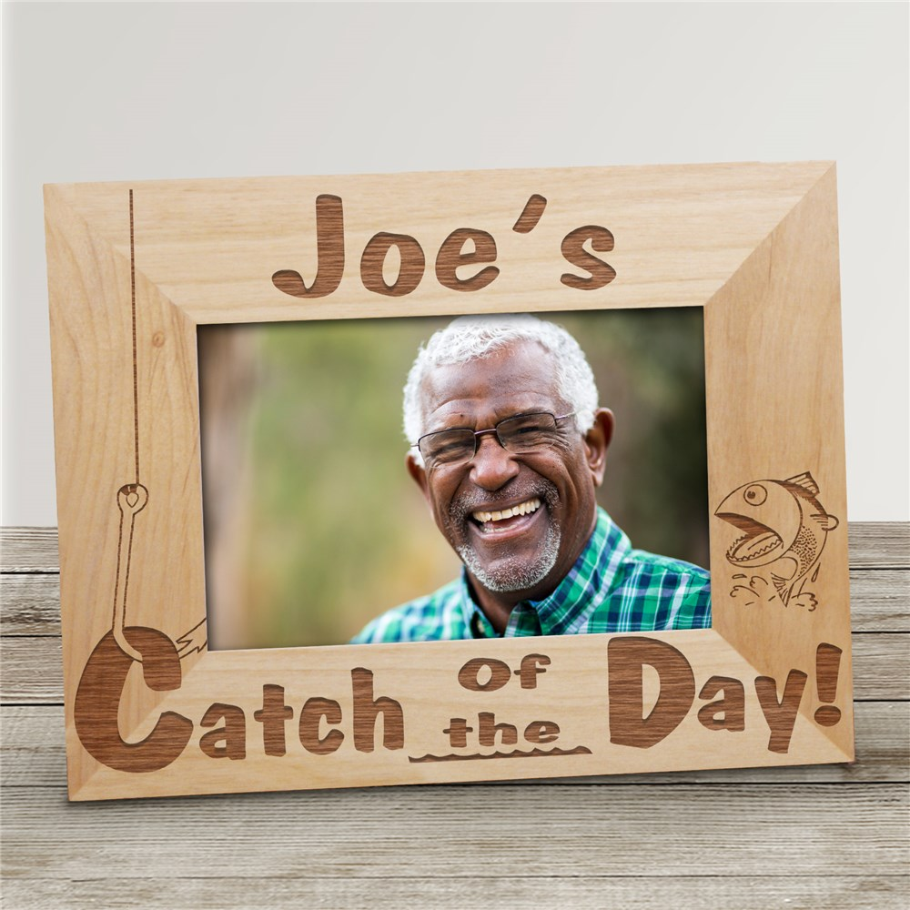 Catch of the Day Wood Picture Frame | Personalized Wood Picture Frames