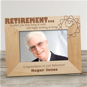Personalized Retirement Wood Picture Frame | Personalized Wood Picture Frames