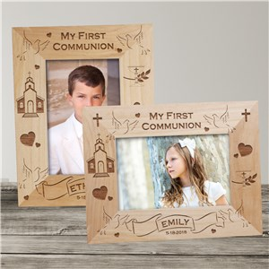 My First Communion Wood Picture Frame | Personalized Wood Picture Frames