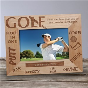Personalized Golf Wood Picture Frame | Personalized Wood Picture Frames