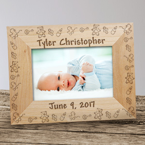 Baby Toys Baby Wood Picture Frame | Personalized Baby Frames