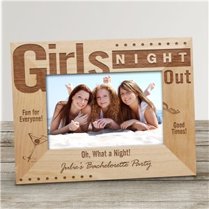 Girls Night Out Personalized Wood Picture Frame | Personalized Wood Picture Frames
