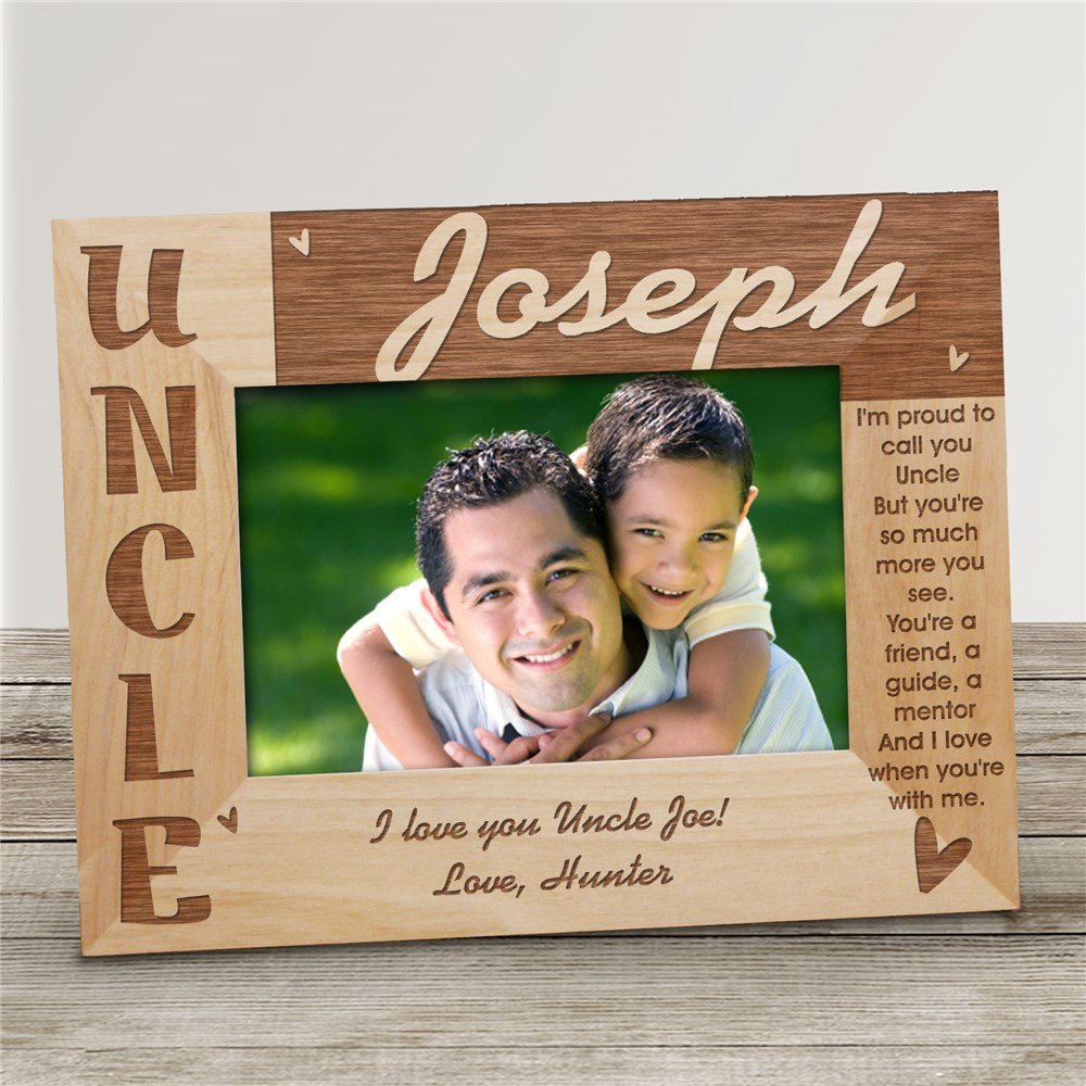Personalized Uncle Picture Frame | Personalized Picture Frames