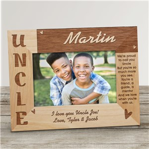 Personalized Uncle Picture Frame | Personalized Wood Picture Frames