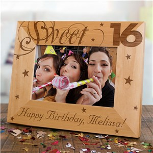 Sweet Sixteen Picture Frame | Personalized Wood Picture Frames