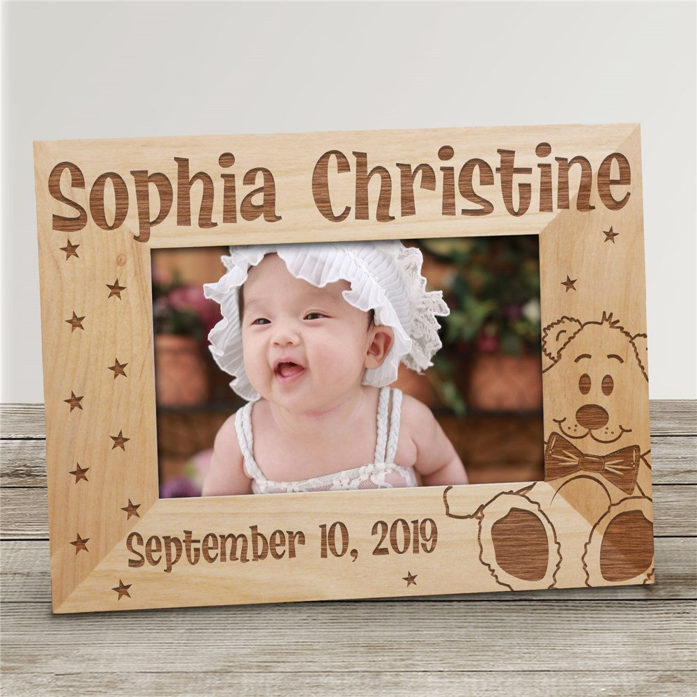 New Baby Wood Picture Frame | Personalized Baby Gifts