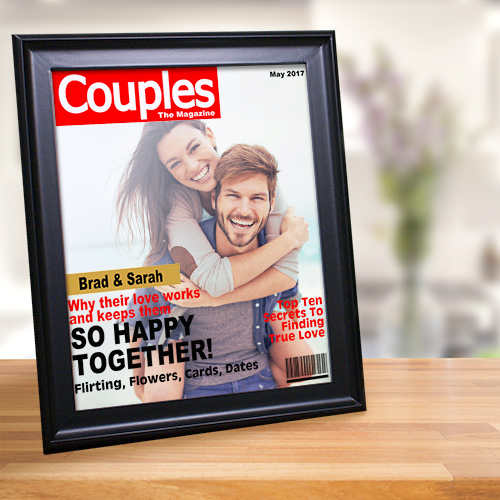 Couples Magazine Cover Frame | Personalized Picture Frames