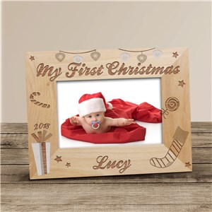 Personalized My First Christmas Picture Frame | Baby's First Christmas Gifts