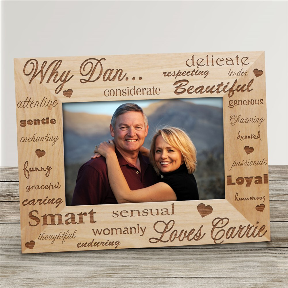 Why I Love You Wood Picture Frame | Personalized Wood Picture Frames